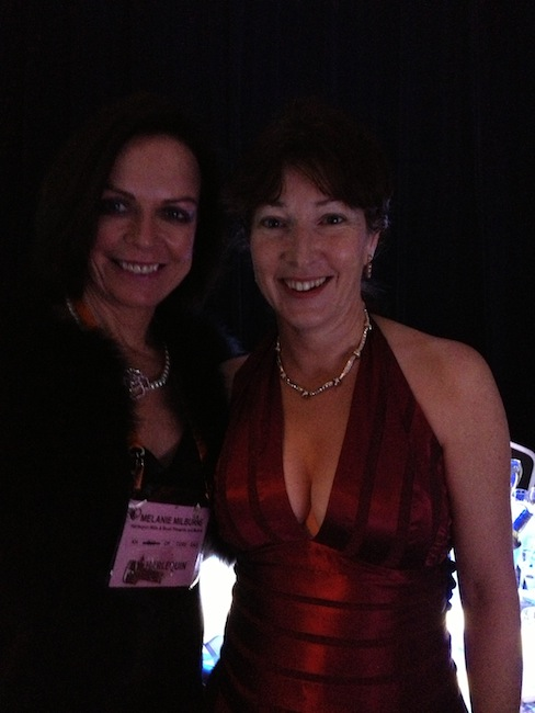 Alyssa J. Montgomery and Melanie Milburne at RWA Awards Dinner, 2013