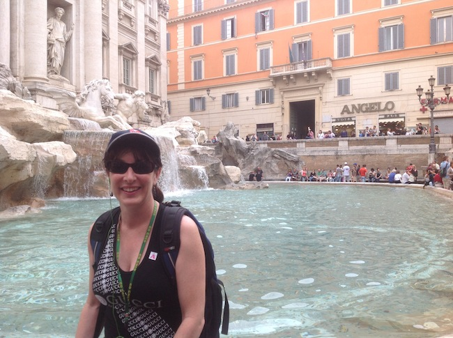 Alyssa J. Montgomery at Trevi Fountain (Rome)